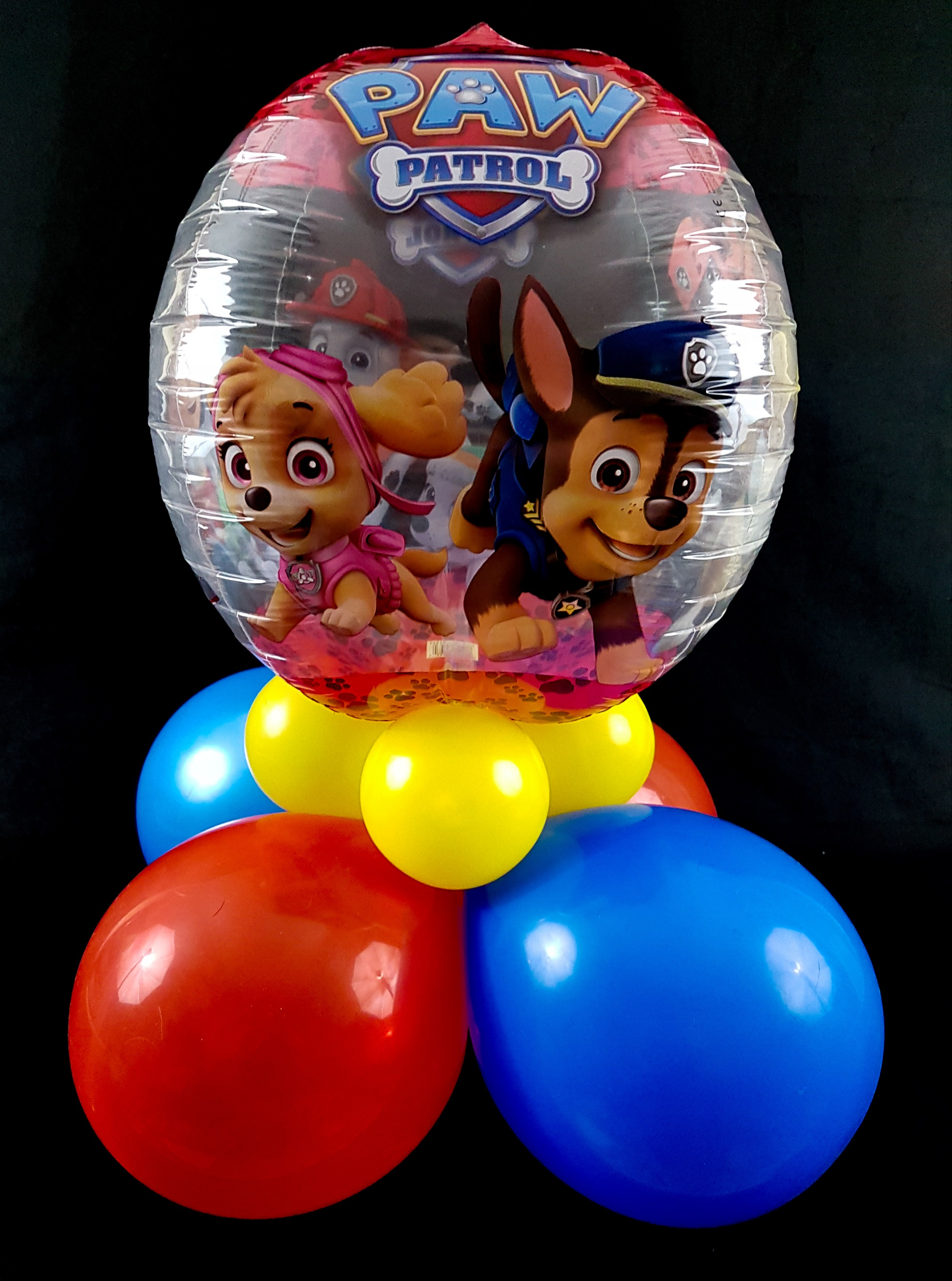 Paw patrol centerpiece full of beans party rentals